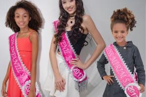 Luana de Paula, Thifany Nakasone e juliane Rodrigues, Misses Infantil, Juvenil e Mirim, respectivamente