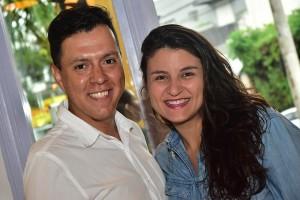 Abel Freitas e Monique Abreu