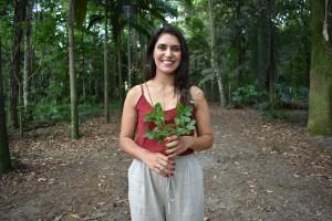 Beatriz Carvalho, ambientalista  e representante do movimento social, Mato no Prato (crédito -  Divulgação)