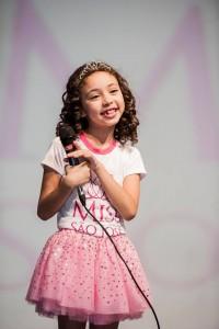 Nathalie Ferraz, Miss Simpatia Mirim, em 2014. Hoje, menina é destaque na publicidade